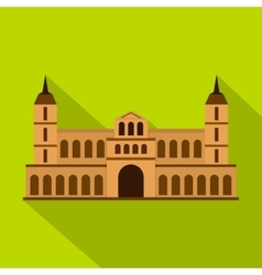 Castle icon flat style vector image vector image