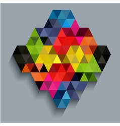 Colorful diamond with triangle texture vector