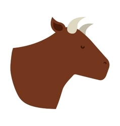 cow isolated icon design vector image