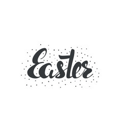 easter inscription vector image