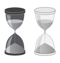 Hourglass dark and light vector