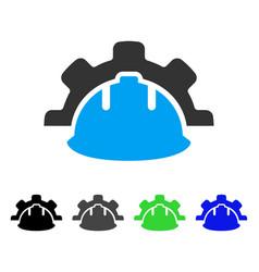 Industrial development flat icon vector