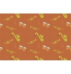 Jazz music pattern summer jam vector