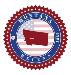 Label sticker cards of state montana usa vector