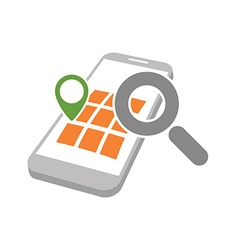 mobile geo location searching vector image vector image