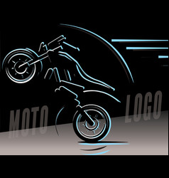 Motorcycle logo motocross freestyle vector
