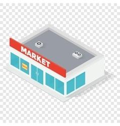 New isometric supermarket building vector