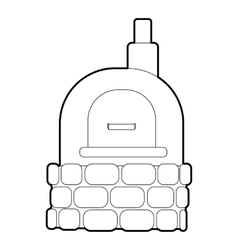 Oven icon outline style vector
