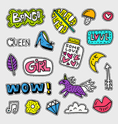 patch collection vector image vector image