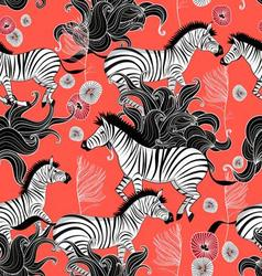 Pattern of running zebras vector