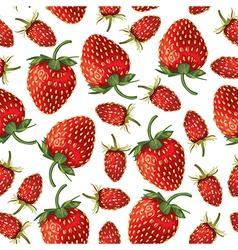 strawberries pattern vector image vector image