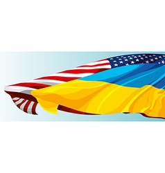 USA UKRAINE FLAG vector image vector image