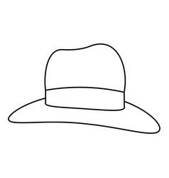 women sun hat vector image