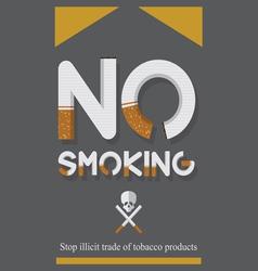 World No Tobacco Day and No smoking sign vector image