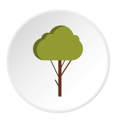 Fluffy tree icon flat style vector