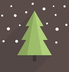 Flat christmas tree vector