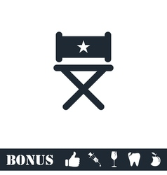 Chair icon flat vector