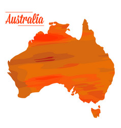 Isolated australian map vector