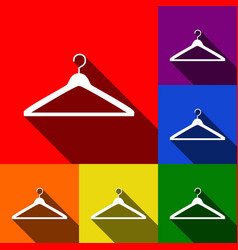 hanger sign set of icons vector image