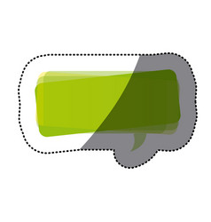 green square chat bubble icon vector image