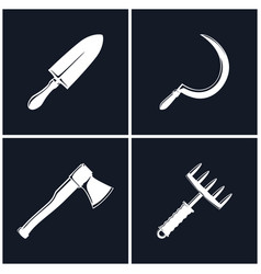 Set of farming tools vector