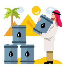 middle east oil industry flat style vector image