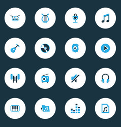 Music colorful icons set collection of radio vector