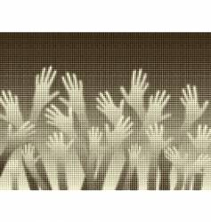 halftone hands vector image