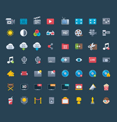 Video icon set vector