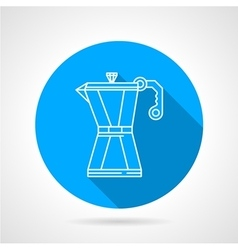 Line icon for coffee maker vector