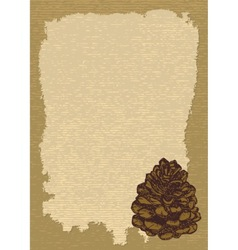 Paper with pinecone vertical vector