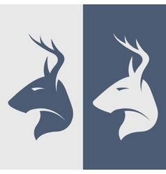 The deer symbol logo icon vector