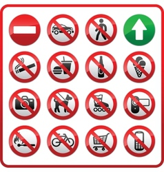 prohibited set symbols vector image