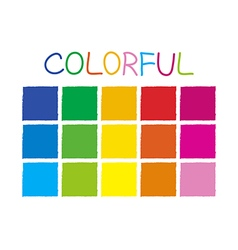 Colorful color tone without code vector