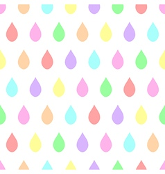 Colorful pastel rain white background vector