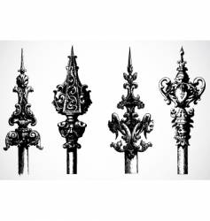 spear ornaments vector image