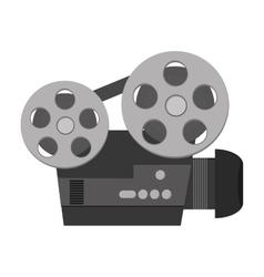 Classic film projector icon vector