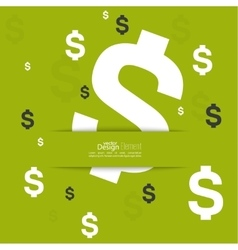 Abstract background with dollar sign vector