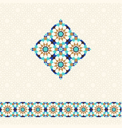 abstract geometric background in arabic style vector image vector image