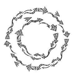 arrows round frames vector image