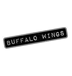 Buffalo wings rubber stamp vector