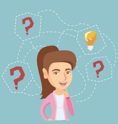 caucasian business woman having business idea vector image vector image