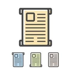 Diploma or scroll logo vector