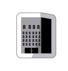 Grayscale build of city icon vector