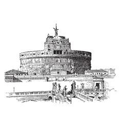 Hadrians tomb the roman emperor hadrian vintage vector