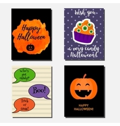 Halloween vertical banners greeting cards vector