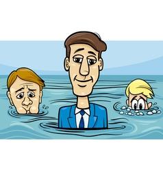 head above water saying cartoon vector image