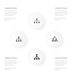 Icon cabinet set of structure team framework and vector