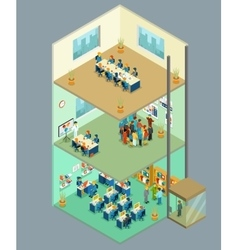 Isometric business center 3d office vector image vector image