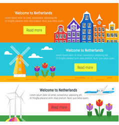 netherlands template for web banner or poster vector image
